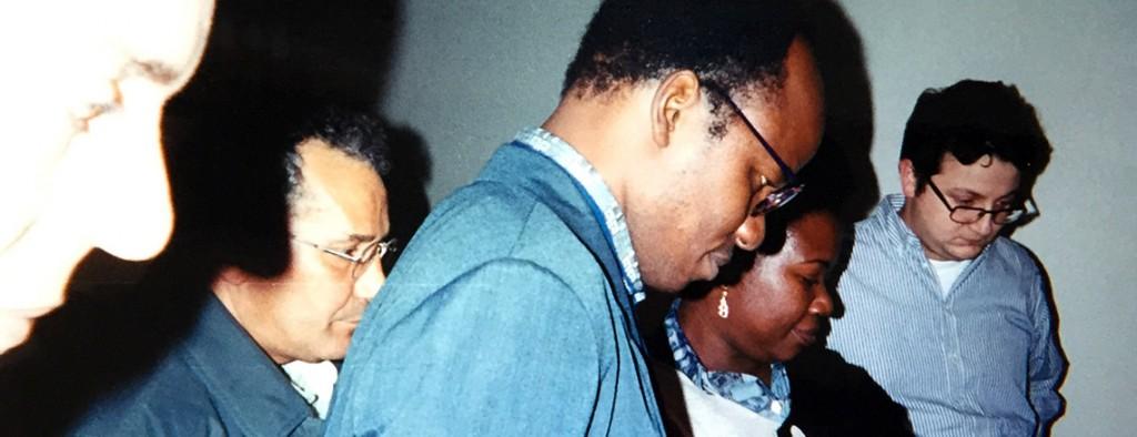 Farid Zahi, Mohamed Dlimi, Yacouba Konaté, Tanella Boni. Galerie Chez Valentin. Francographies de l'Art. 1997.