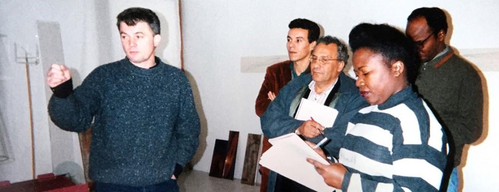 Farid Zahi, Mohamed Dlimi, Yacouba Konaté, Tanella Boni. Atelier de Bernard Moninot. Francographies de l'Art. 1997.
